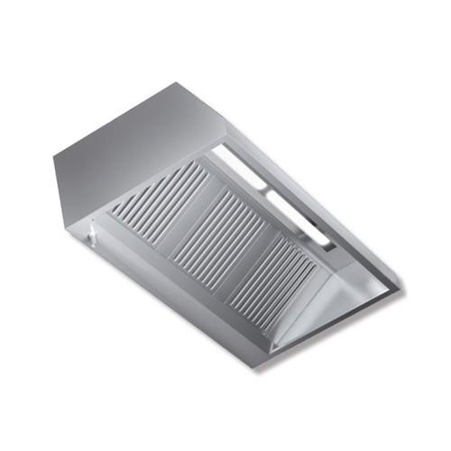 Cappa 160x90x45 acciaio inox parete motore luci cucina ristorante rs7476 - Motore cappa aspirante cucina ...