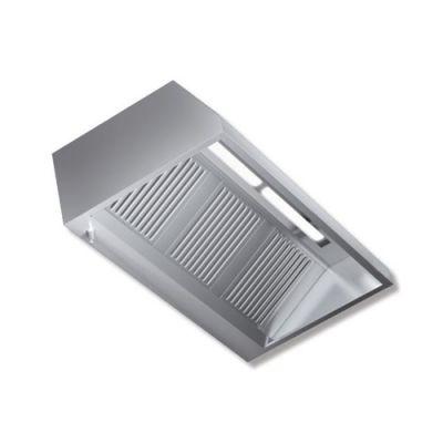 Cappa 180x140x45 acciaio inox parete motore luci cucina - Motore cappa aspirante cucina ...