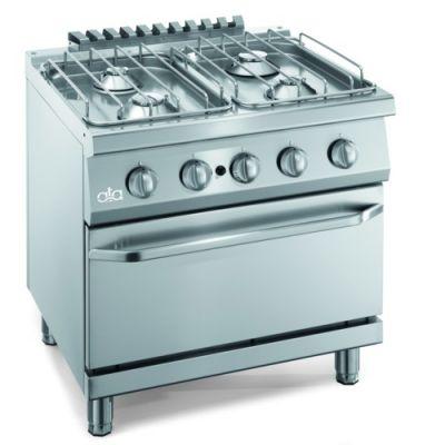 Cucina piano cottura gas pavimento 4 fuochi forno cm - Cucina piano cottura e forno ...