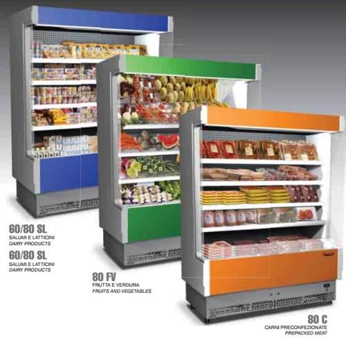 espositore murale frigorifero frigo frutta verdura cm 148x80x204 rs9367 ebay. Black Bedroom Furniture Sets. Home Design Ideas
