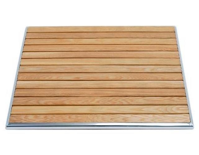 Piano tavolo per esterno 60x60 in legno e alluminio rs8663 for Piano in legno per tavolo