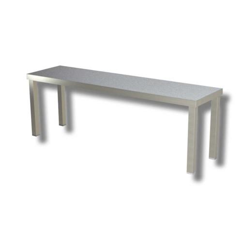 Ripiano 200x35x40 mensola singola acciaio inox appoggio for Tavolo 40x40