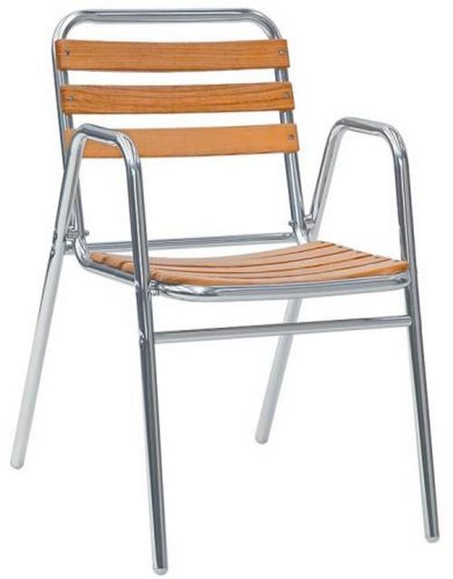 Sedie Per Esterno In Legno.Sedia Per Esterno In Alluminio Con Doghe In Legno Di Rovere Rs8610