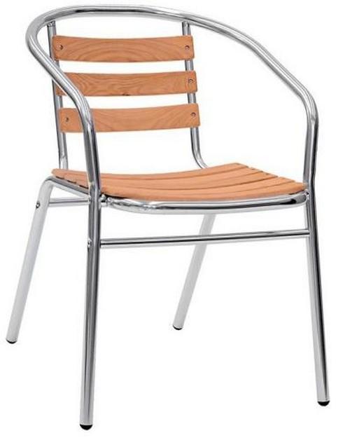 Sedie Per Esterno In Legno.Sedia Per Esterno In Alluminio Con Doghe In Legno Di Rovere Rs8612