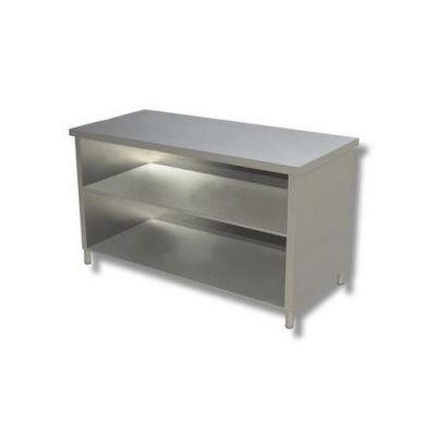 Tavolo 100x60x85 acciaio inox 430 a giorno ripiano cucina for Tavolo cucina 60 x 100