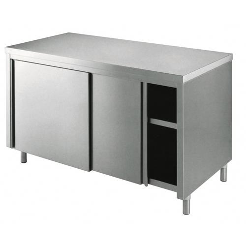 Mesa de 100x60x85 de acero inoxidable 430 armadiato cocina ...