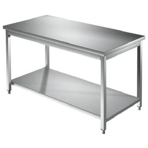 Mesa de 110x70x85 de acero inoxidable 304 con las piernas estantería ...