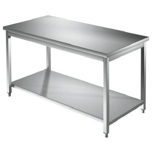 Tisch 140 X 60 X 85 Edelstahl 304 Auf Beinen Regal Kuche Restaurant