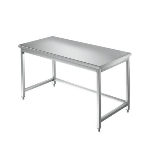 Tavolo 140x70x85 acciaio inox 304 su gambe cucina ristorante ...