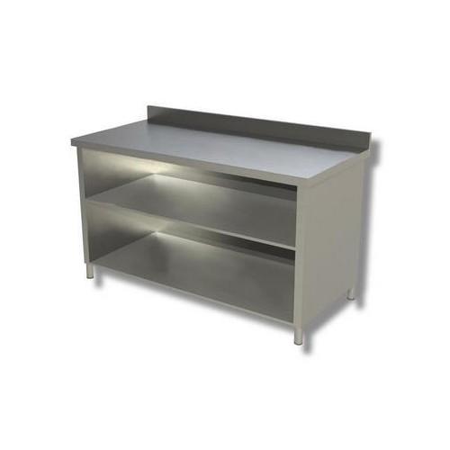 Tavolo 170x70x85 acciaio inox 304 a giorno ripiano alzatina ristorante rs8275 - Alzatina cucina acciaio ...