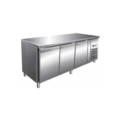 Tavolo frigorifero frigo 3 porte cm 1795x70x85 -18 -22 RS1917