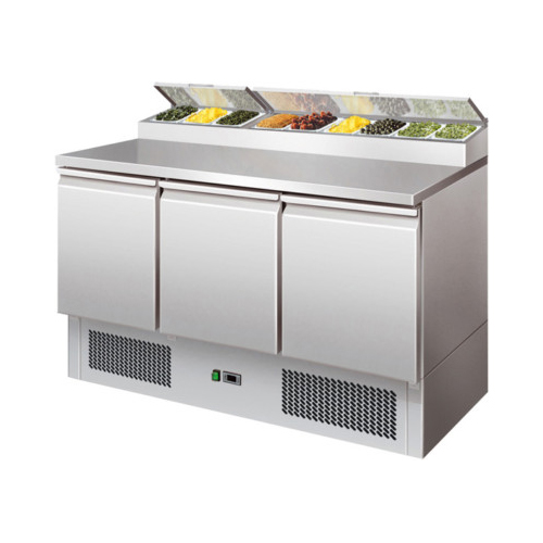 Tavolo frigorifero frigor 3 porte frigo cm 137x70x101 2 for Frigorifero 3 porte
