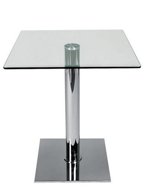 Tavoli In Acciaio E Cristallo.Tavolo Per Interno 70x70x72 In Acciaio E Vetro Rs8707 Ebay